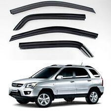 New Smoke Window Vent Visors Rain Guards for Kia Sportage 2005 - 2009
