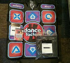 Dance Factory Game + Dance Mat Pad For Playstation 2 PS2 Codemasters Lot 2 Mats