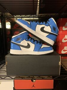 Jordan 1 Mid Signal Blue BQ6931-402 Grade School Size Limited Time Sale!