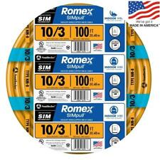 Southwire Romex SIMpull 100' 10/3 Non Metallic Wire By the Roll 63948426