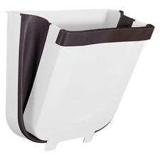 Creative Wall Mounted Folding Waste Bin Kitchen Door Hanging Bin Can Rubbish Box