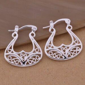 Beautiful Silver Cretan Minoan Goddess Bull Horns Drop Earrings Halloween