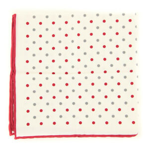 "$170 Brunello Cucinelli Red Pocket Square -  13.25"" x 13.5"" - (BC-82800911)"