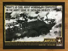 2004 U.S. Army Stryker Print Ad/Poster Official USA Patriotic American Art Rare