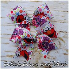 """monsters Pigtails Bows 3.5"""" wide"""