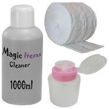 Nagel Entfetter Cleaner 1000ml / 500 Zelletten / Set / Dispender Pumpflasche