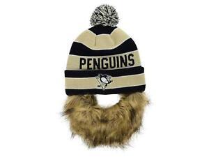 Pittsburgh Penguins OTH NHL Sauk  Knit w/ Removeable Beard Beanie Hat _S22