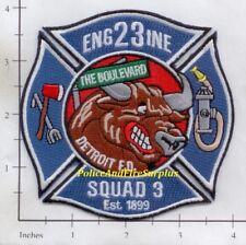 Michigan - Detroit Engine 23 Squad 3 MI Fire Dept Patch