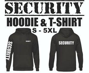Security Hoodie Custom T shirt Personalised Agency Staff Tops Workwear Bodyguard