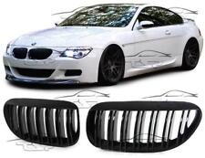 FRONT GRILLS BLACK-GLOSS FOR BMW E63 E64 02-10 M-LOOK SERIES 6 SPOILER NEW