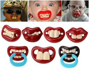 Funny Novelty Baby's Teeth / Lips Dummies - Dummy Pacifiers for Babies Children