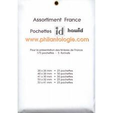 Assortiment 175 pochettes Hawid pour timbres de France.