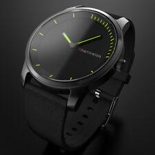 Smart wasserdicht Armbanduhr Sport Bluetooth für iPhone IOS Android  Schwarz