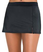 Caribbean Joe Swimwear Solid Side Slit Swim Skirt Skirted Bottom Swimsuit NWT