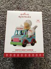 Hallmark Ornament 2017 Santa's Sweet Surprise Ice Cream Truck Music Lights New
