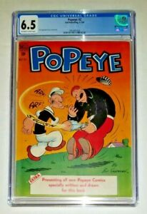 Popeye #2 - CGC 6.5 OW/White Pages (Dell Comics, 1948)