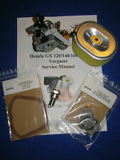 Vergaser passend für Honda Gx160 GX140 Luftfilter Zündkerze Service Info VVD