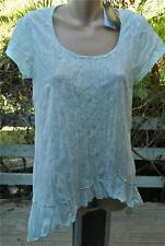 Crossroads Ice Blue TUNIC TOP Size L-16/18 NEW Asymmetrical HI LO Hem RRP $39.95