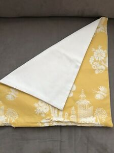 18x18 Decorative Pillow With Zipper Yellow Floral Natural Canvas  With Zipper