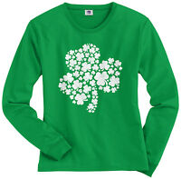 Threadrock Women's Shamrock of Shamrocks Long Sleeve T-shirt Irish Pride