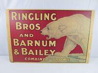 Vintage 1976 RINGLING BROS AND BARNUM & BAILEY Display Souvenir Poster VERY RARE