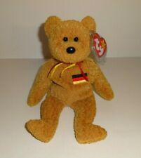 GERMANIA THE GERMAN FLAG BEAR GERMANY EXCLUSIVE TY BEANIE BABY 1ST VERSION MINT