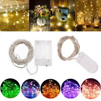 50/100 LED Battery Micro Rice Wire Copper Fairy String Lights Party white/rgb Nt