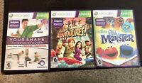 XBOX 360 3x Kinect Game Lot - See pics for titles - FREE S&H