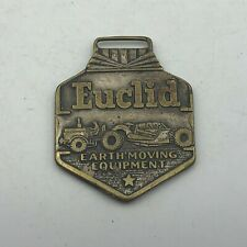 Vintage EUCLID Earth Moving Equipment Advertising Watch FOB Double Sided  ()