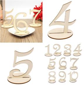 Holz 1-20 Tischnummern Anzahl Zeichen stehen Hochzeit Party Dekoration .