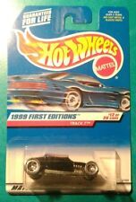 1999 HOT WHEELS FIRST EDITIONS TRACK T #917 5 SPOKE BLACK TAN FLAMES 12 MALAYSIA