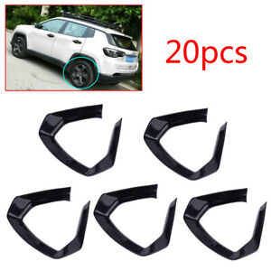20x Black Wheel Hub Decoration Cover Trim Frame Fit For Jeep Compass 2017-2020