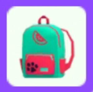 Adopt Watermelon Backpack Me Virtual Pet Wear Rare Cheap