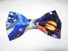 Outer Space Bow tie / Pre-tied Bow tie / Colorful Planets & Stars in Deep Space