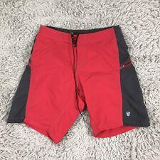 "KUHL ""Mutiny River Shorts"" Hiking Shorts Raven Men's 32 Gray Red"