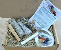 Sage Smudge & Chakra Crystal Kit - Perfect for Smudging House, Crystals, People