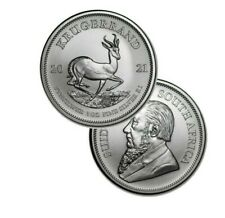 2021 Silver South Africa 1 oz Silver Krugerrand .999 fine Silver 1 Rand