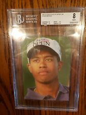 TIGER WOODS ROOKIE CARD A QUESTION OF SPORT UK BGS 8 NEAR MINT-MINT ULTRA RARE!!