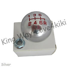 SILVER Aluminum ROUND 6 speed Shift Knob for HONDA CIVIC Accord S2000 Acura