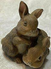 Homco Pair of Brown Easter Bunnies