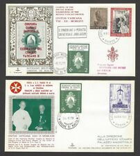 Sovreign Military Order of Malta + Vatican 1966-8 combination covers x 2