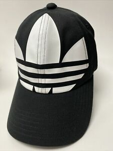 adidas Original Big Trefoil Stapback Hat YOUTH Sport Strapback NEW O/S Black NWT