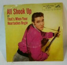 Elvis Presley RCA 47-6870 ALL SHOOK UP (GREAT R&R 45/PS) PLAYS VG++