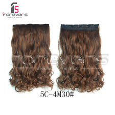 """New Hair Extensions Real Thick 3/4 Half Full Head Clip In Long 24"""" As Human Hair"""
