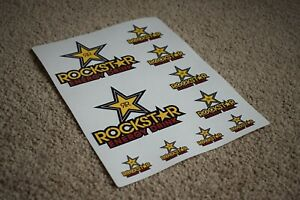 Rockstar RC Motorbike Motorcycle Moto Racing Speed Bike Fork Decals Stickers