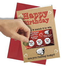 #307 Scratch Card Nothing Birthday Greetings Card Comedy Funny Rude