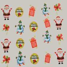 Xmas Nail Sticker Decal Water Transfer Christmas Tree Costume Party Nail Art #B7