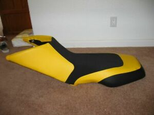 Bombardier DS650 Seat Cover Black and Yellow Color Seat Cover