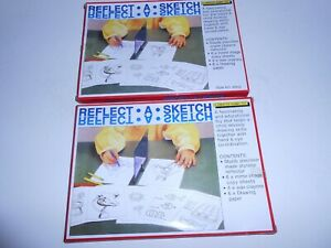 LOT OF 2 NOS REFLECT A SKETCH A CREATIVE HOBBY TOY ITEM N0 85522 TAIWAN