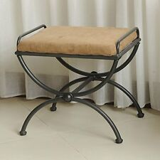 Iron Vanity Stool With Upholstered Seat 3407-Ms-Sb New